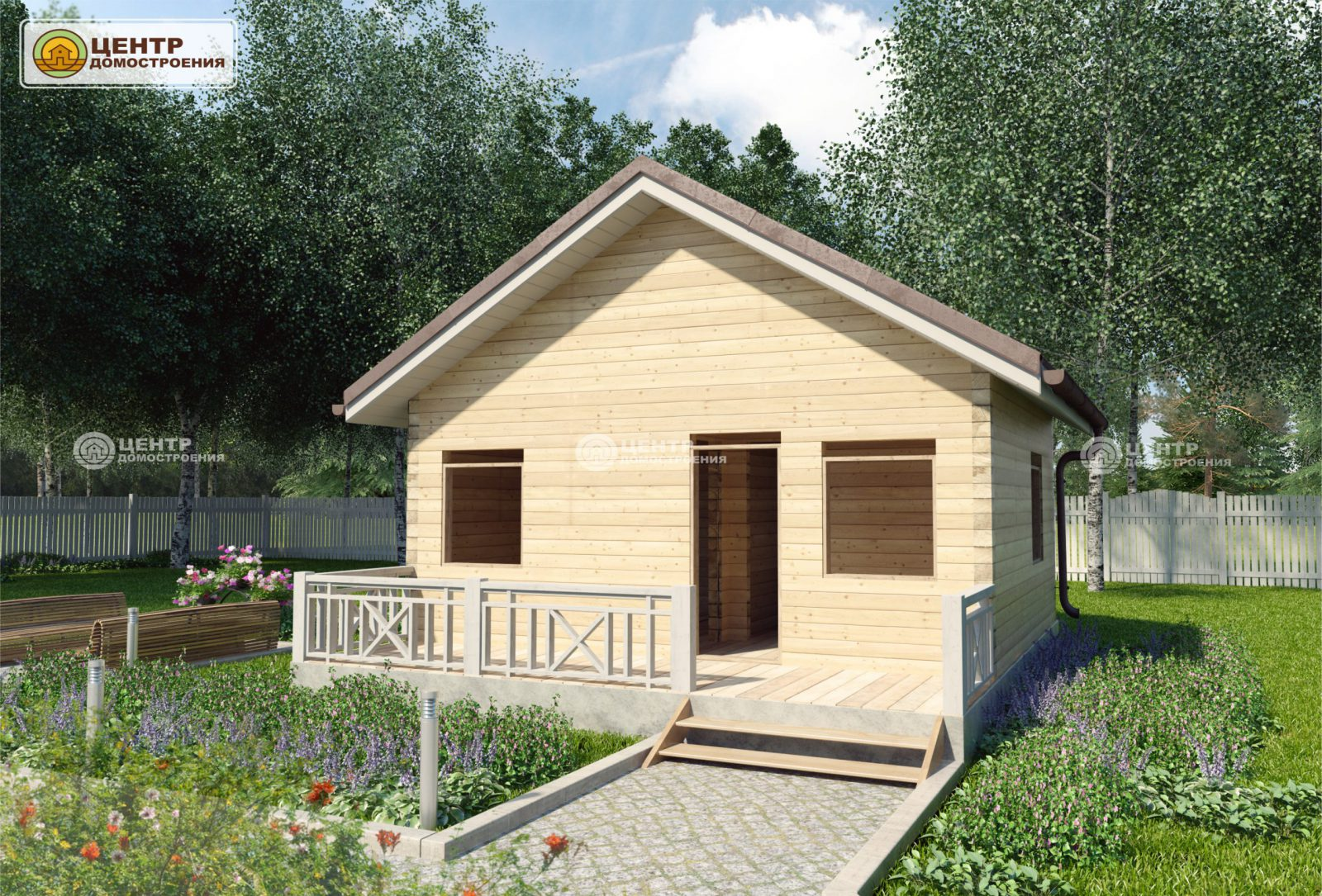 Проект одноэтажного дома 5 на 6