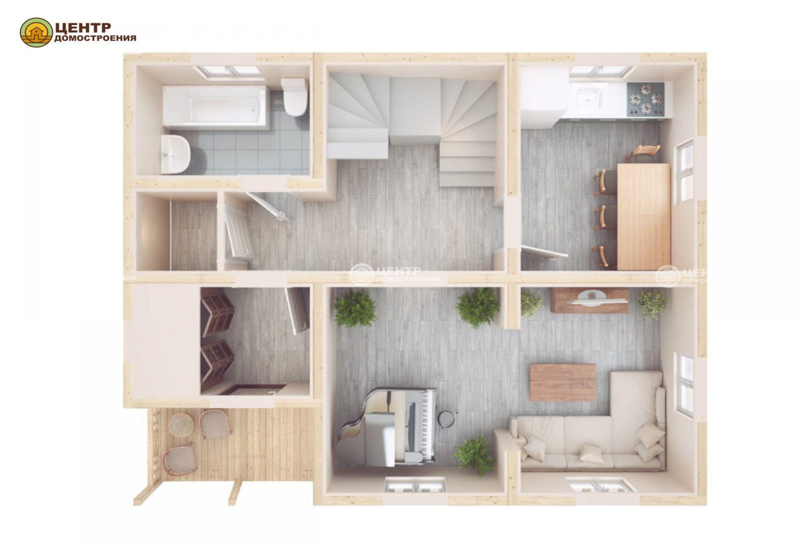 Проект дома 9 на 7 с мансардой
