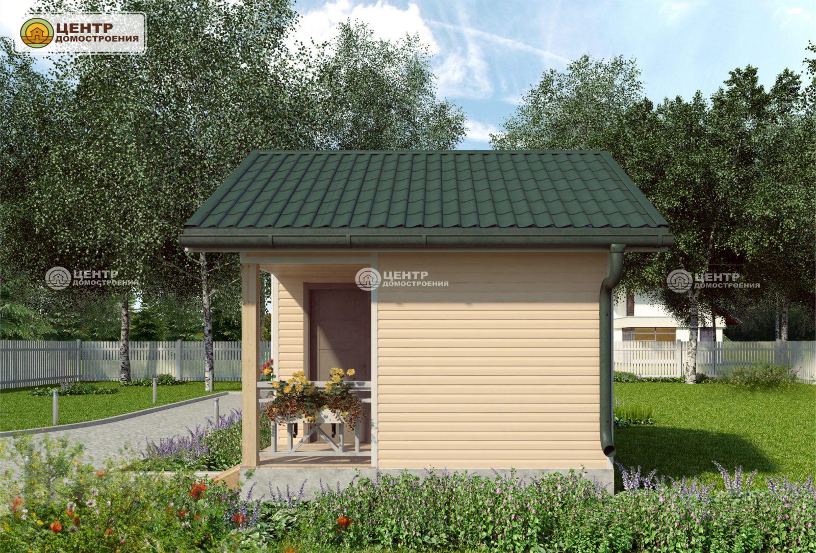 Проект одноэтажного дома 4 на 4