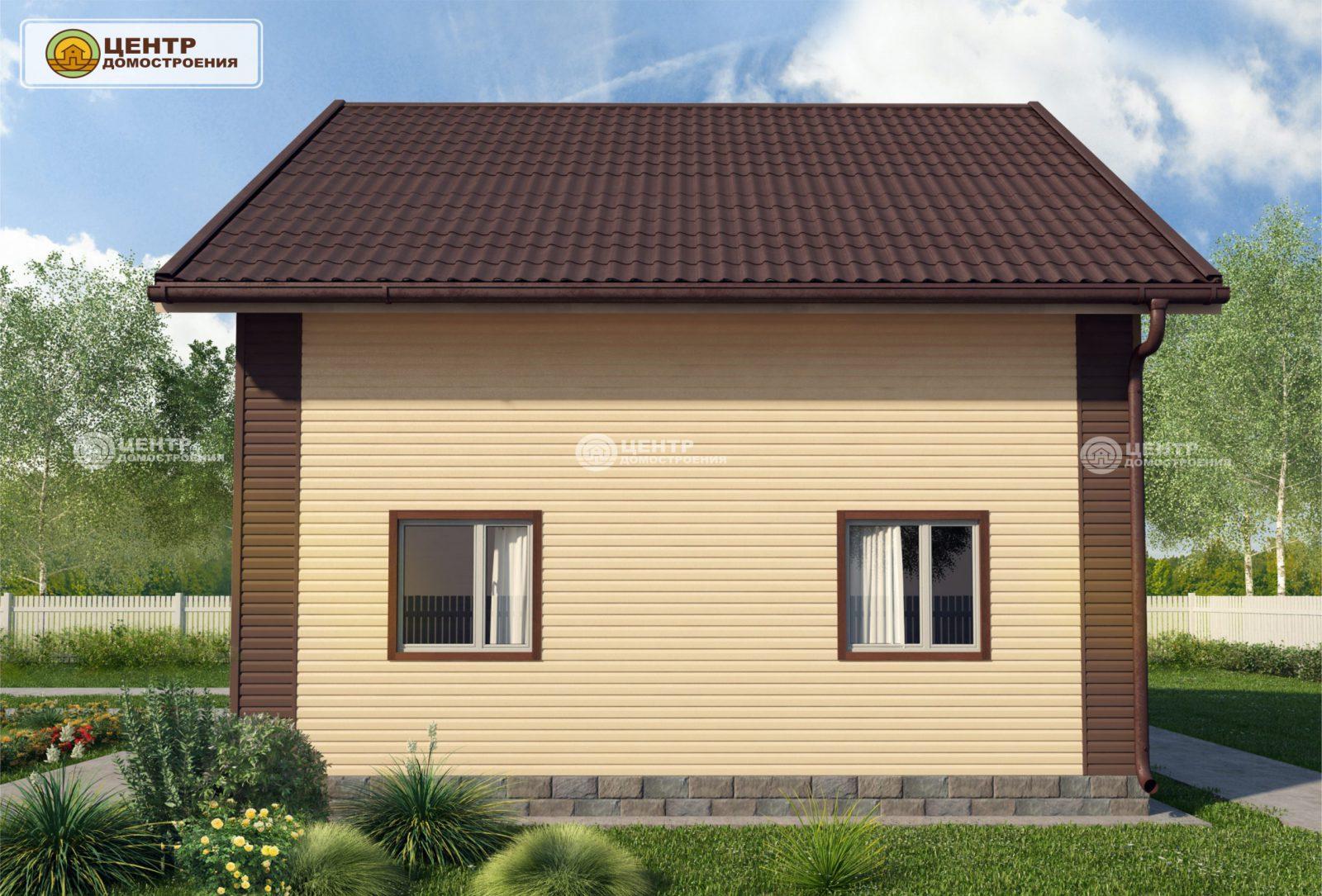 проект дома 8 на 8 с мансардой