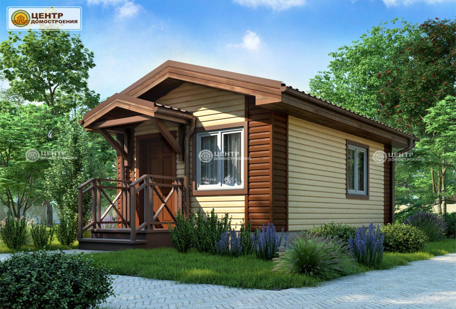 Проект одноэтажного дома 4 на 6