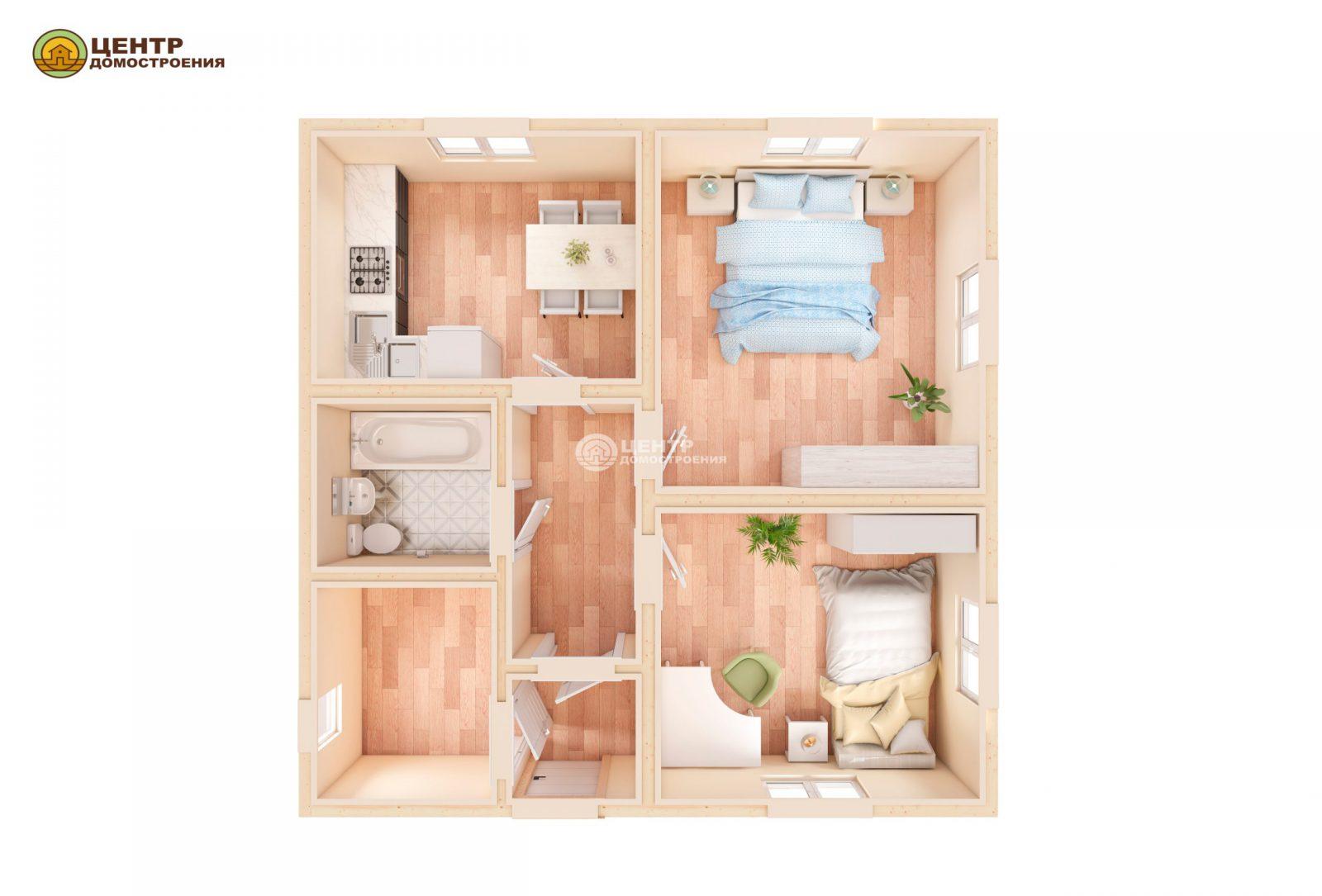 Проект дома 8 на 8 одноэтажный