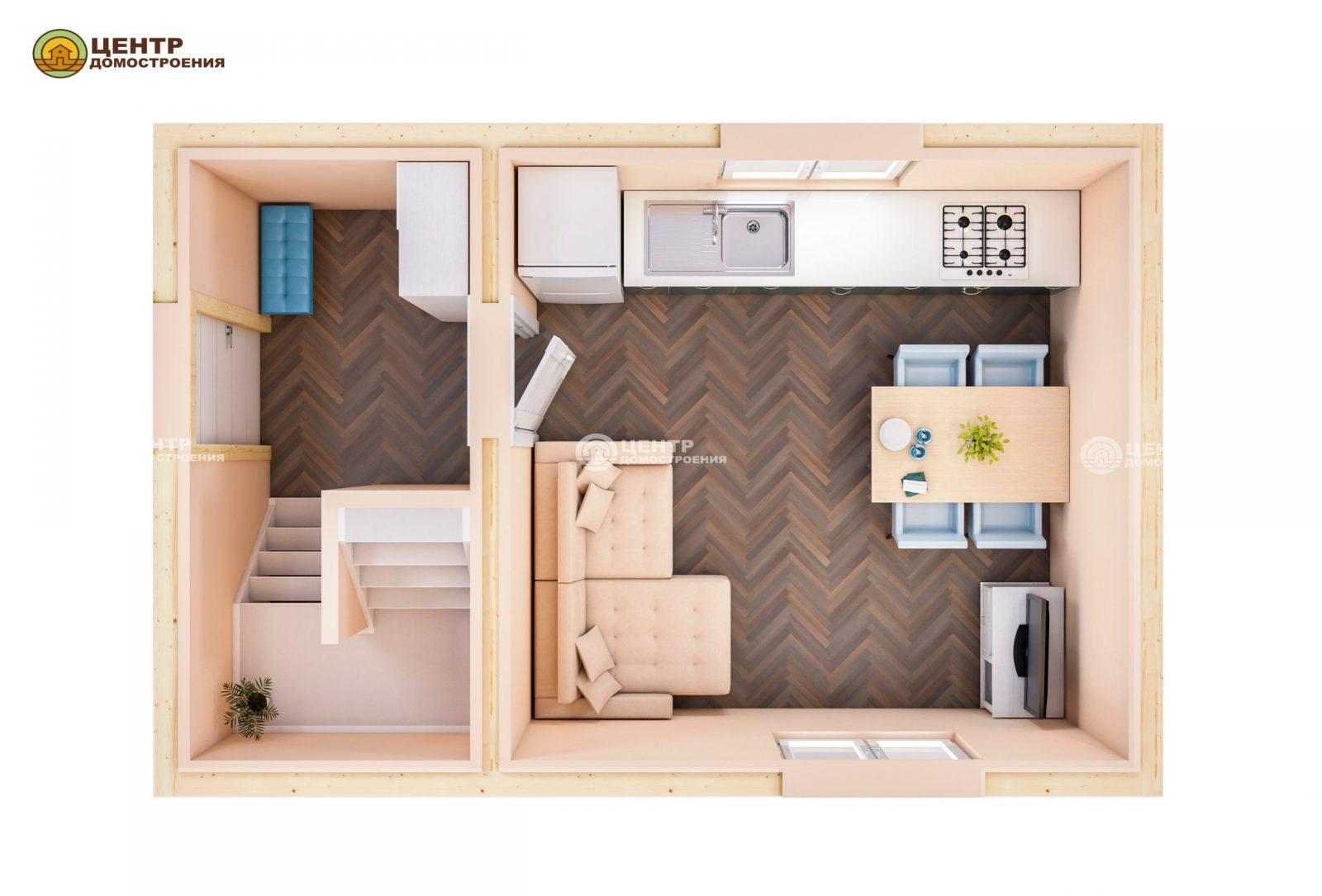 Проект дома 6 на 4