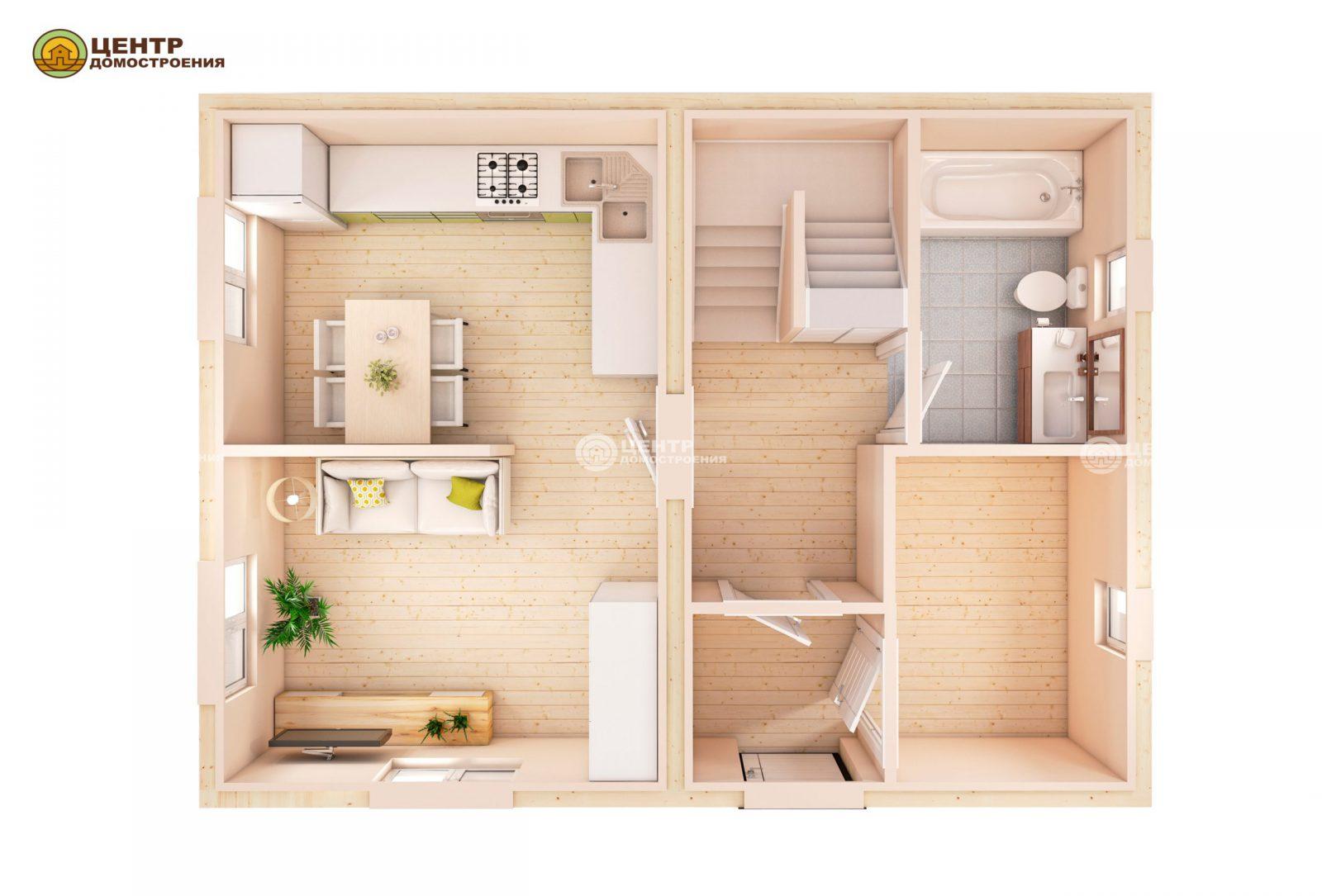 проект дома 8 на 6