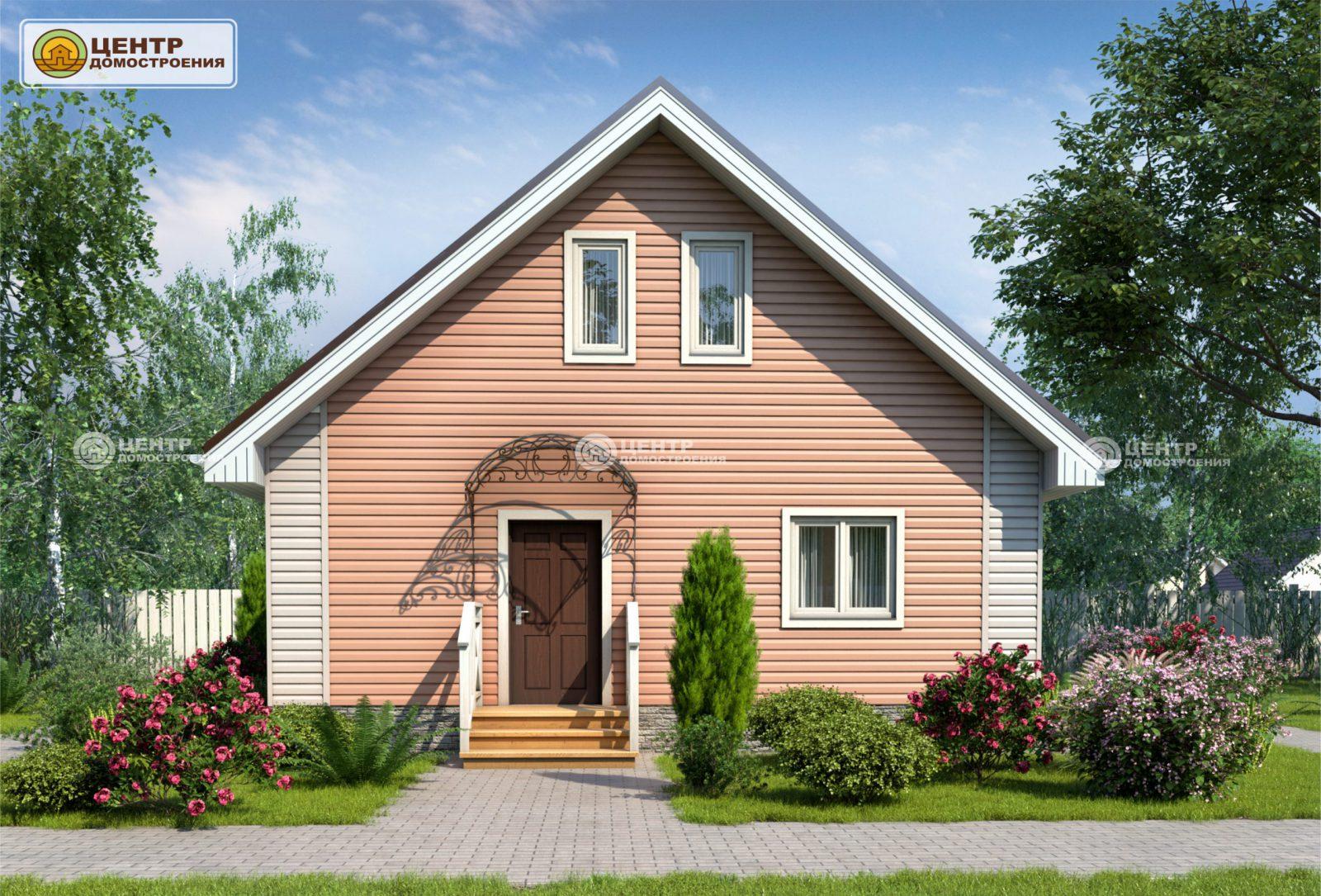 Проект частного дома 8 на 8