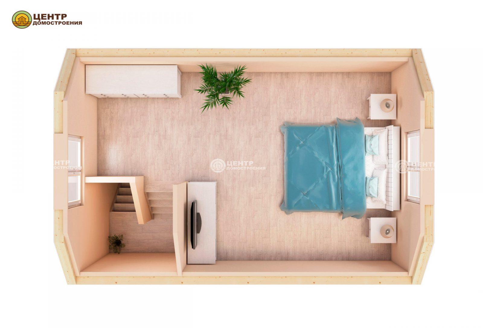 Проект дома 6 на 4 с мансардой