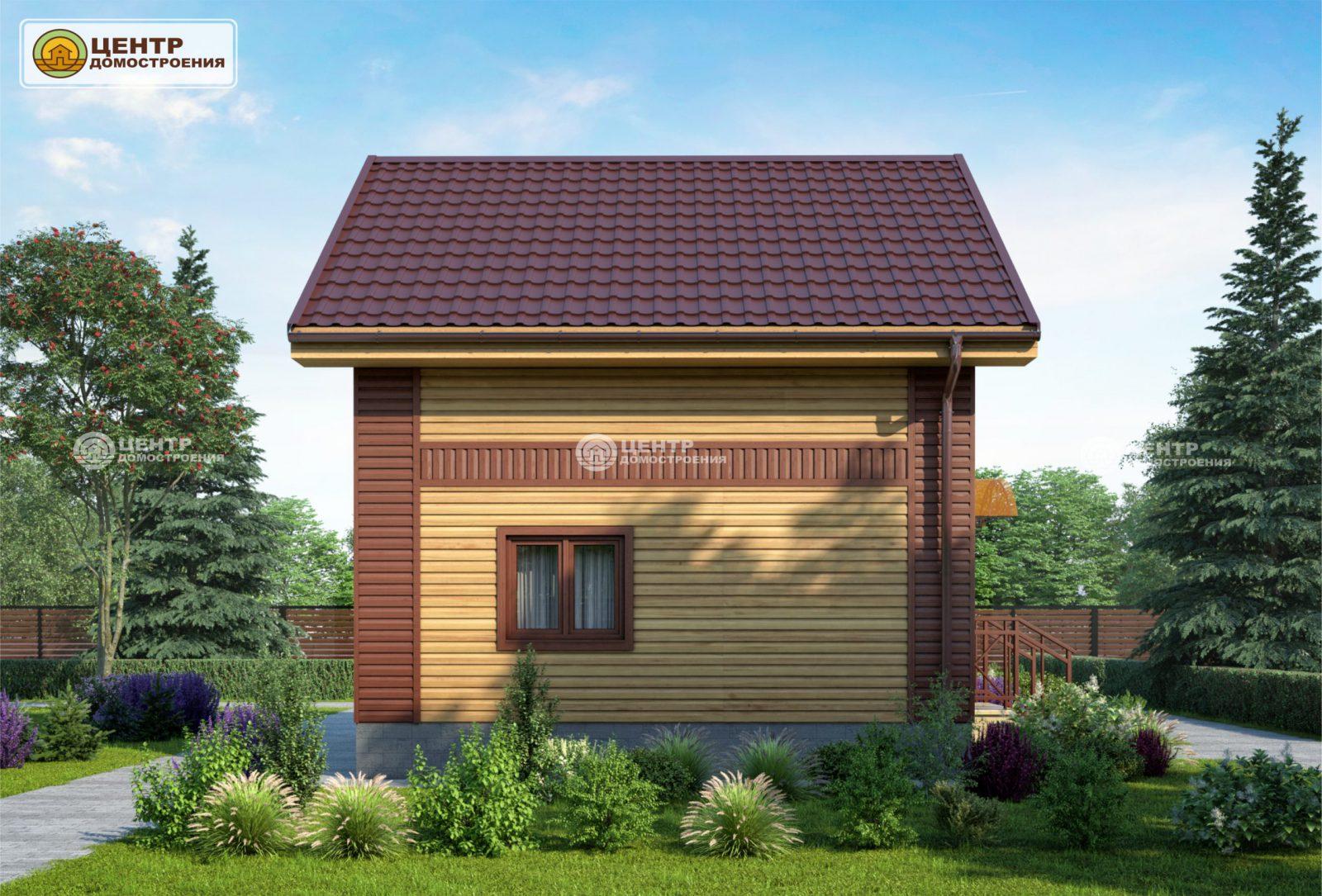 проект частного дома 6 на 6