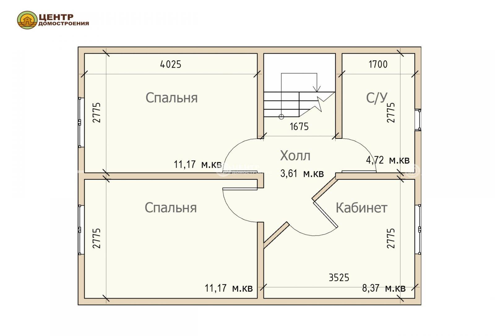 Проект дома с мансардой 9 на 8