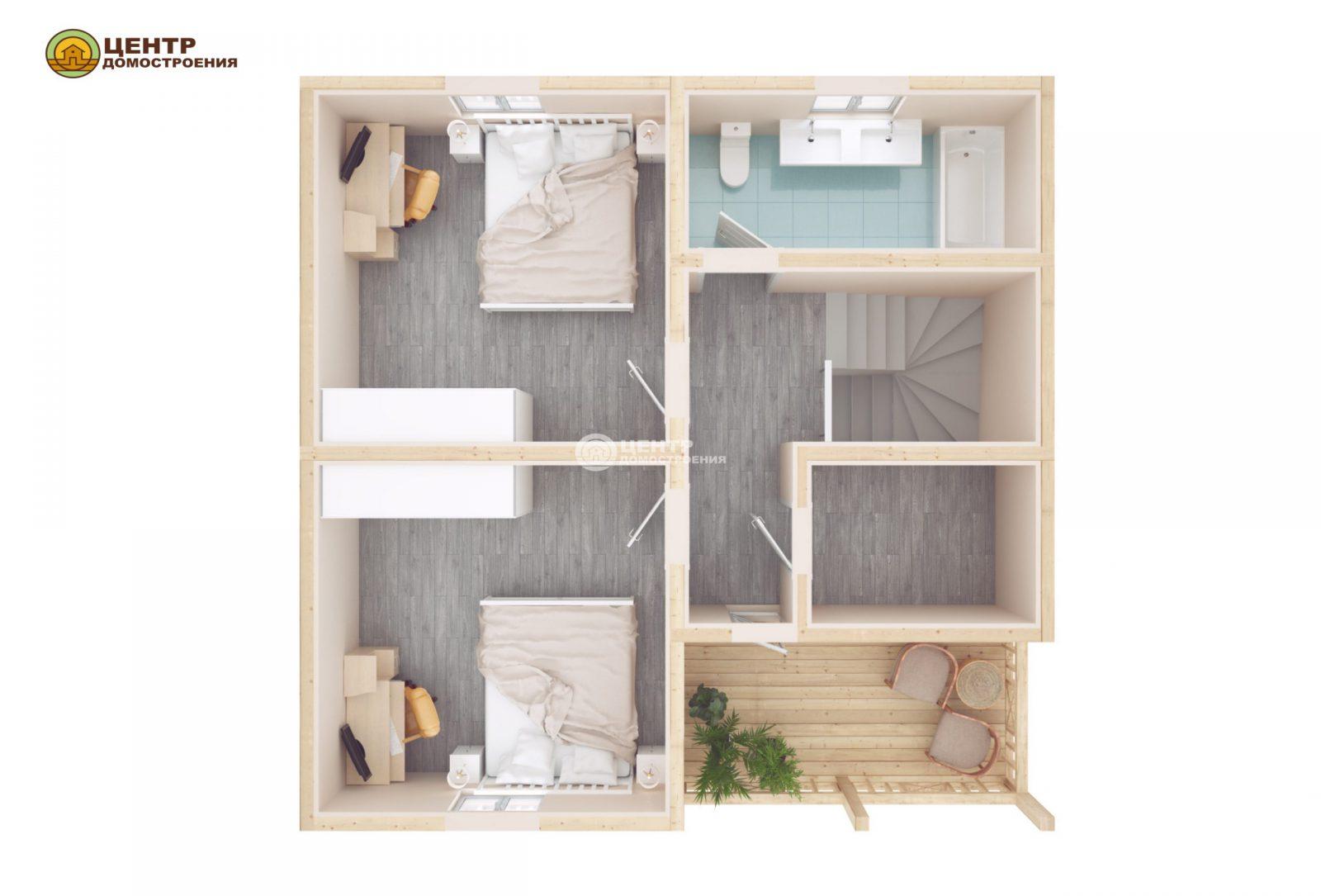 проект дома 9 на 8 с мансардой
