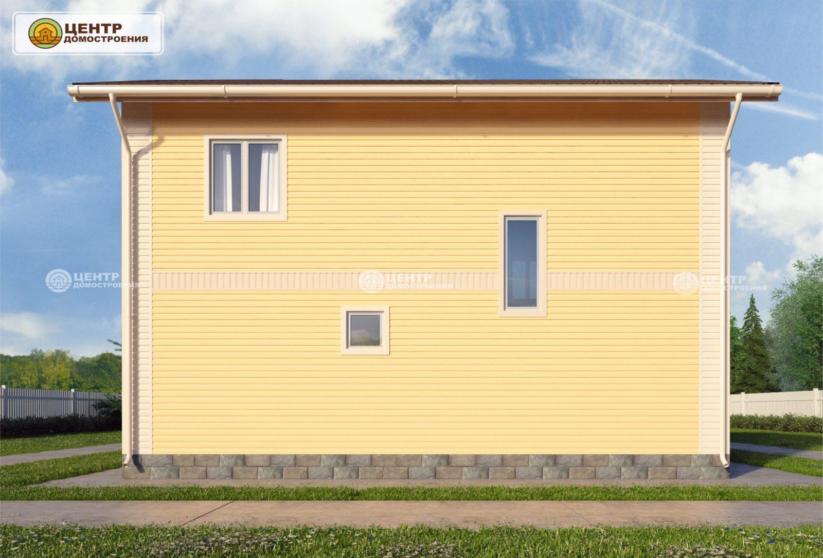 проект двухэтажного дома с эркером