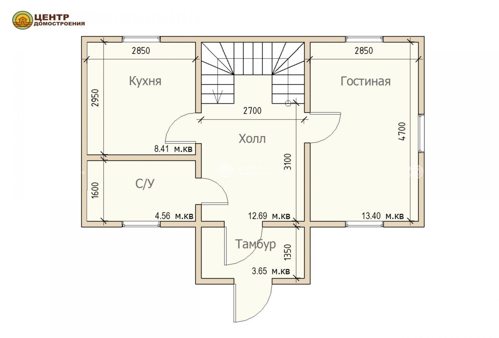 Проект дома 9 на 6