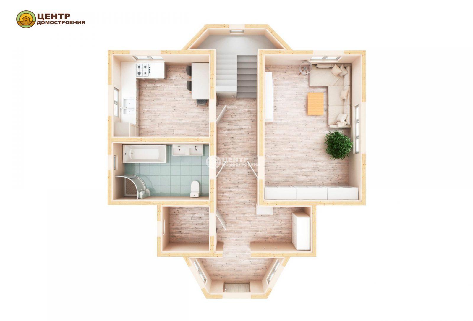 Проект дома 10 на 8 с мансардой