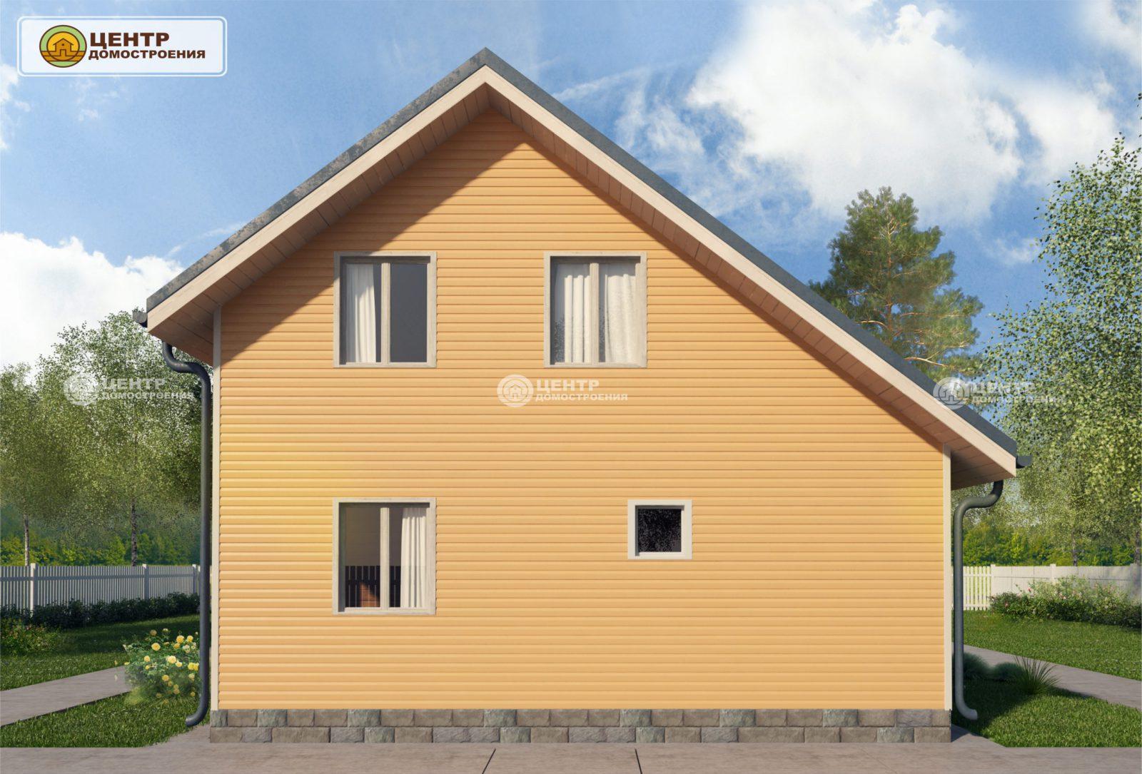 Проект дома с мансардой 8 на 8