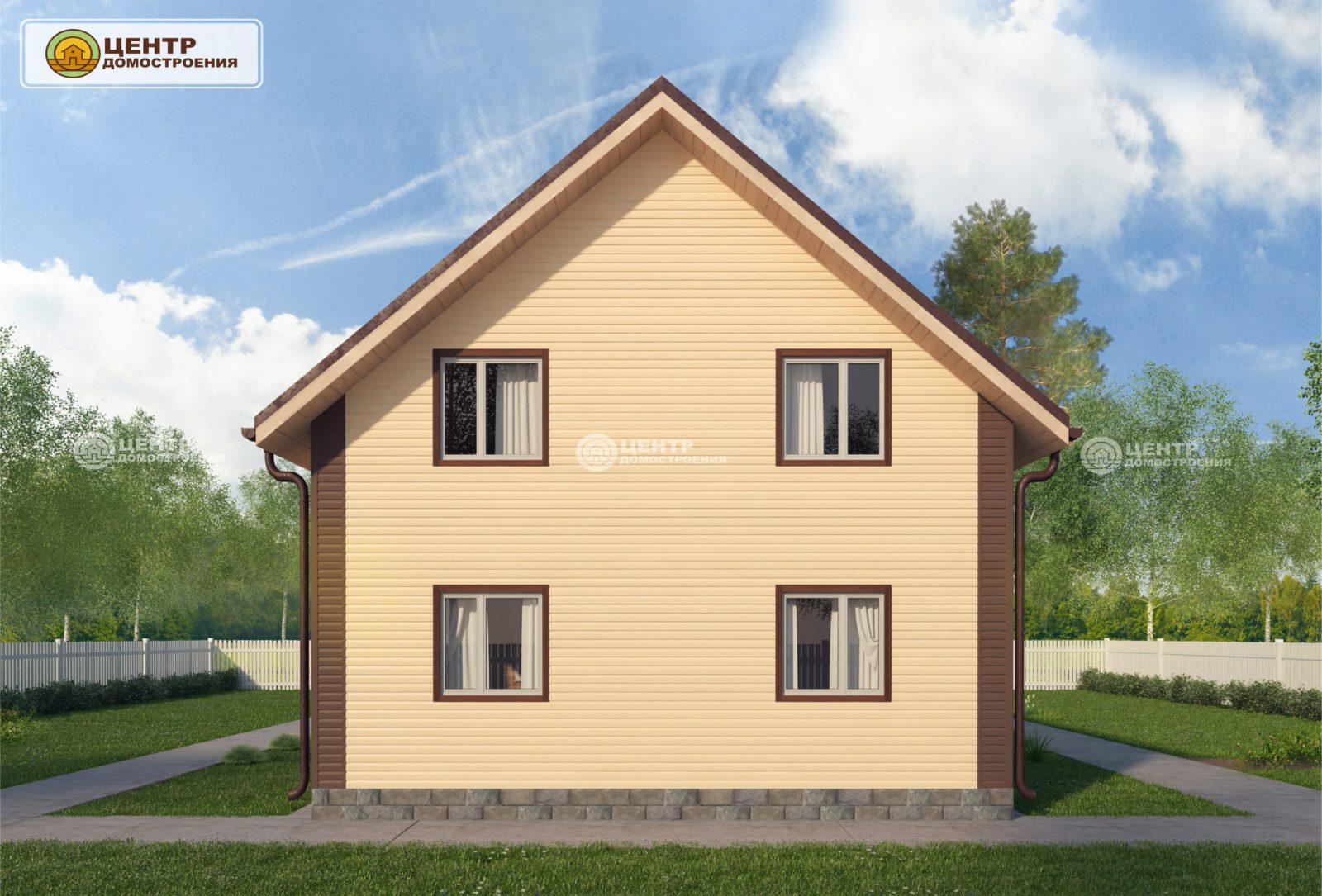 проект загородного дома с мансардой