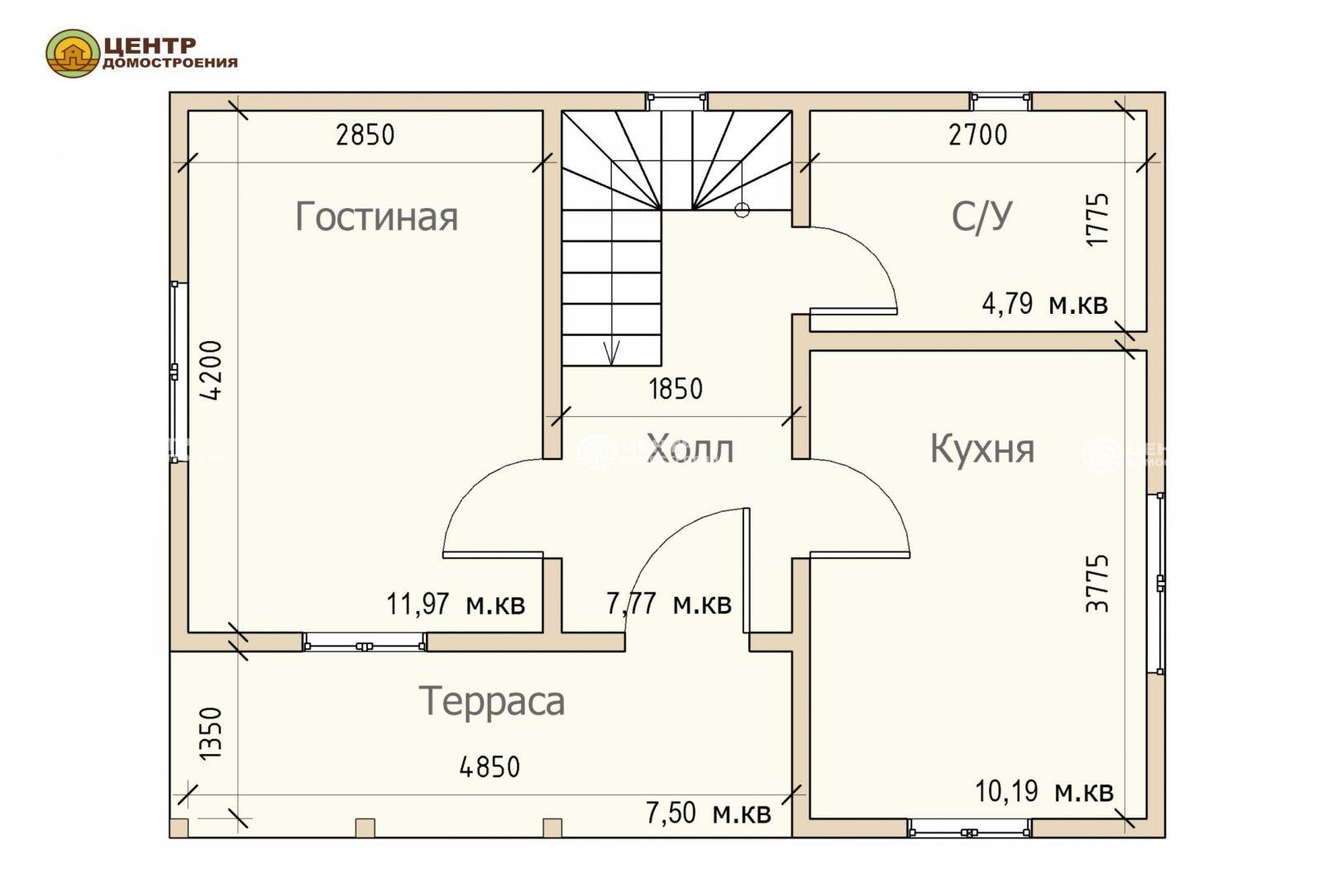 Проект дома 6 на 8 с мансардой