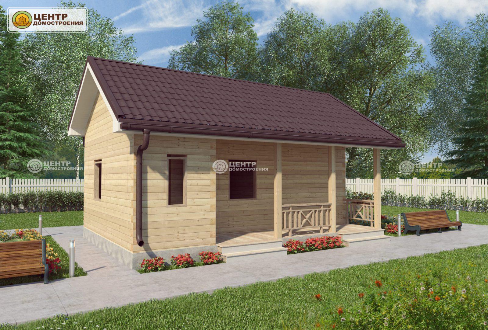 Проект одноэтажного дома 8 на 7