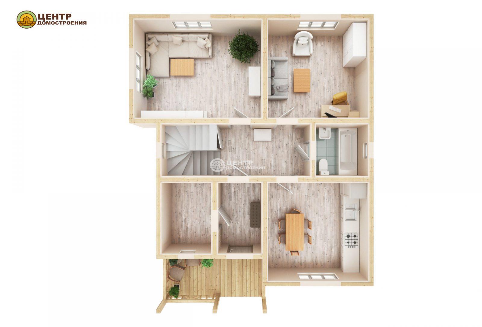 Проект двухэтажного дома 11 на 9