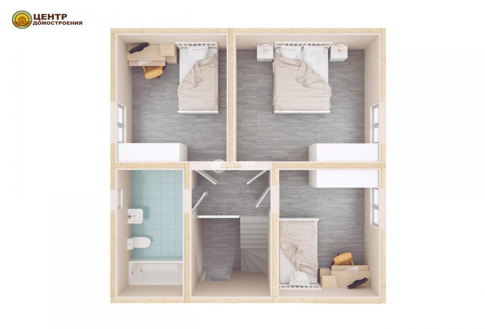 Проект дома с мансардой 8 на 9