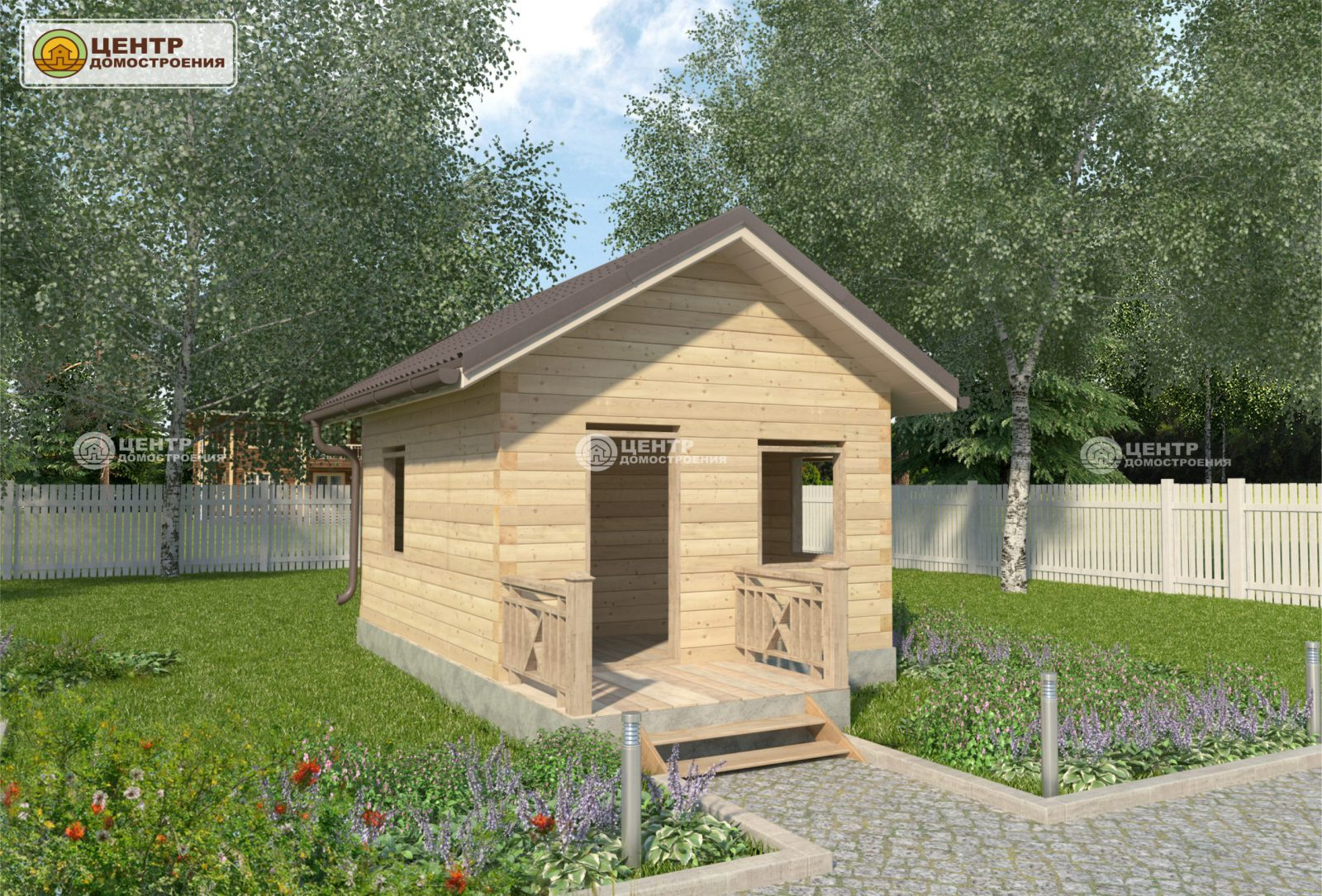 Проект одноэтажного дома 5 на 4
