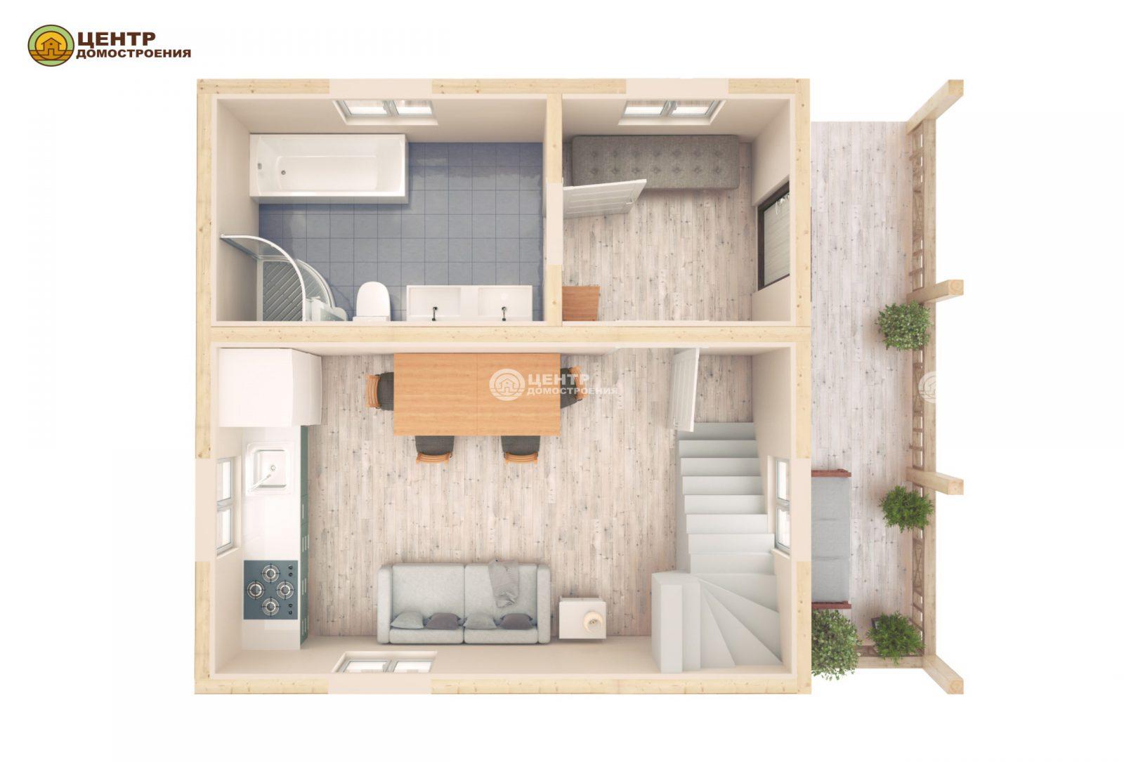 Проект мансардного дома