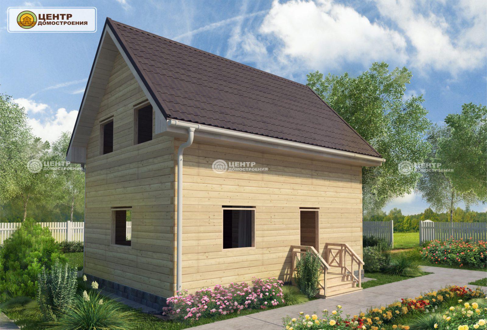 Проект дома с мансардой 8 на 6