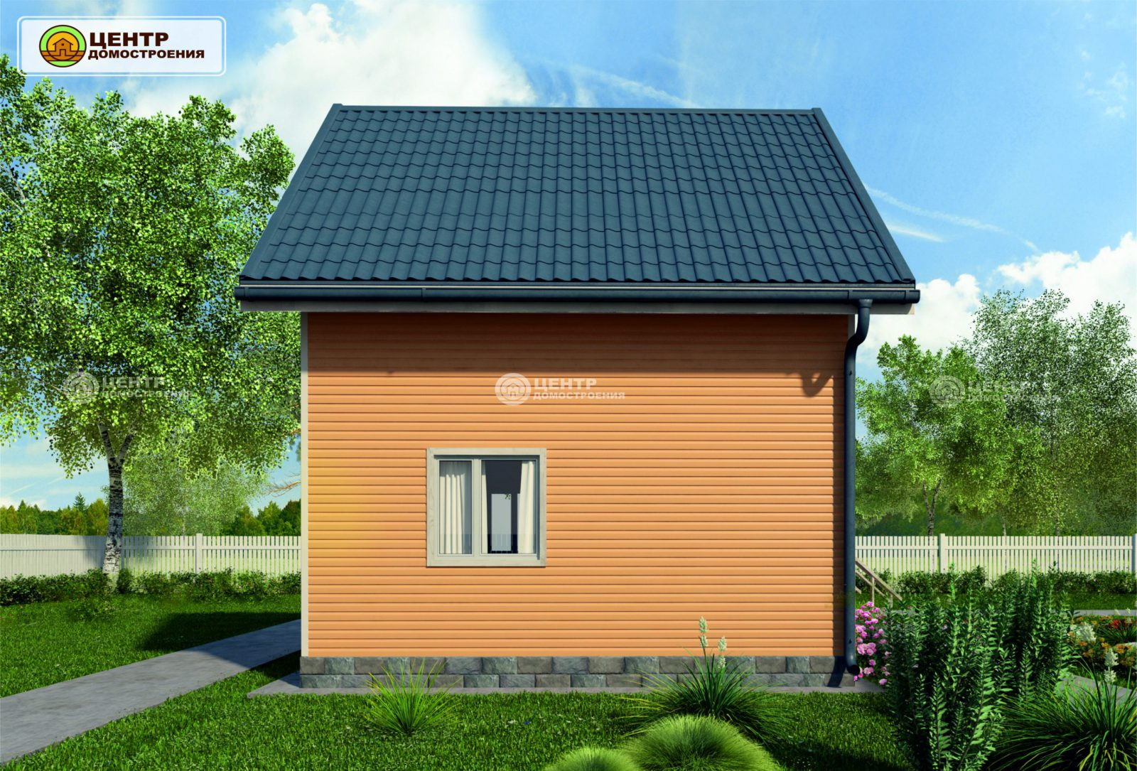 Проект дома 6 на 6 с мансардой