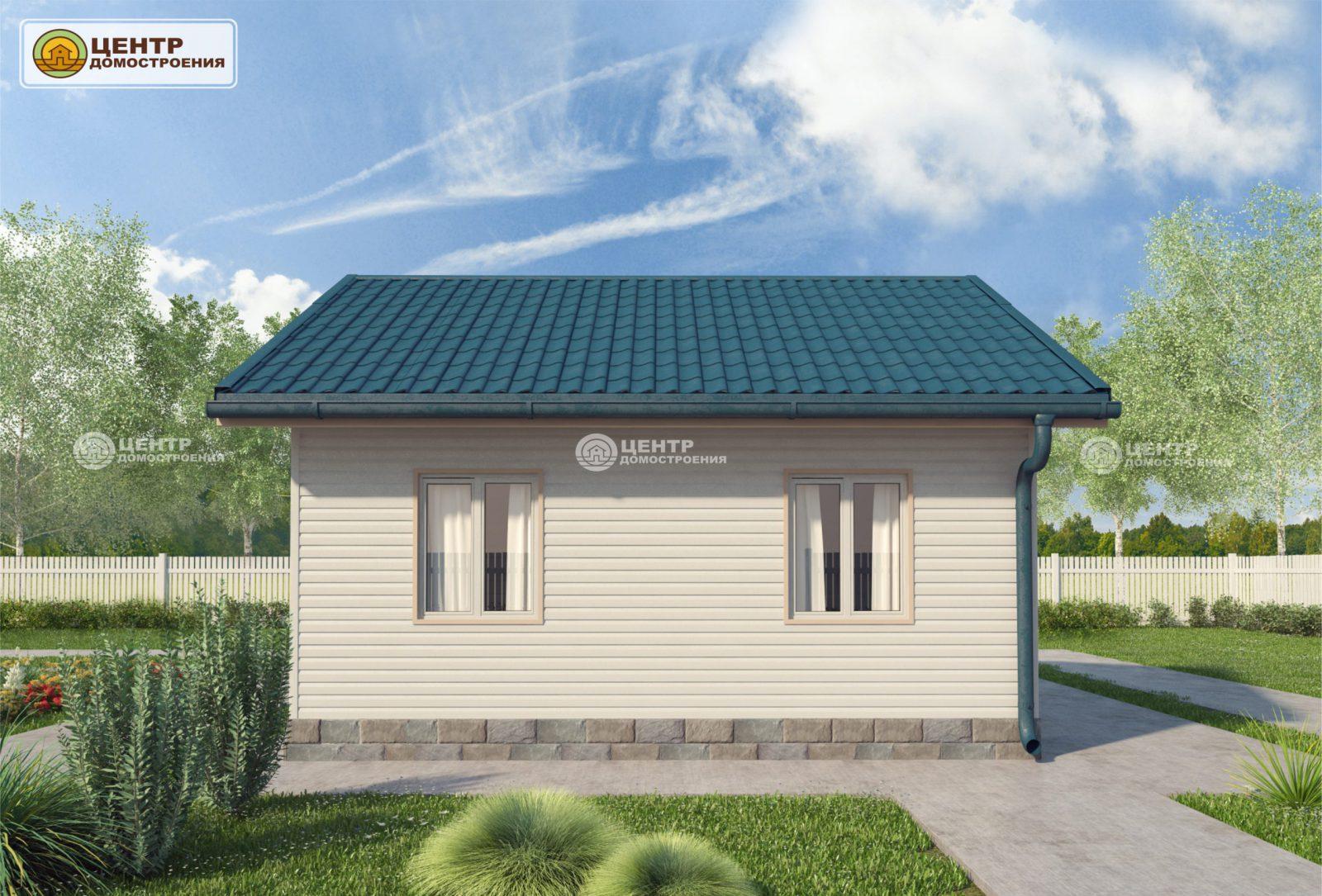 Проект одноэтажного дома 6 на 6