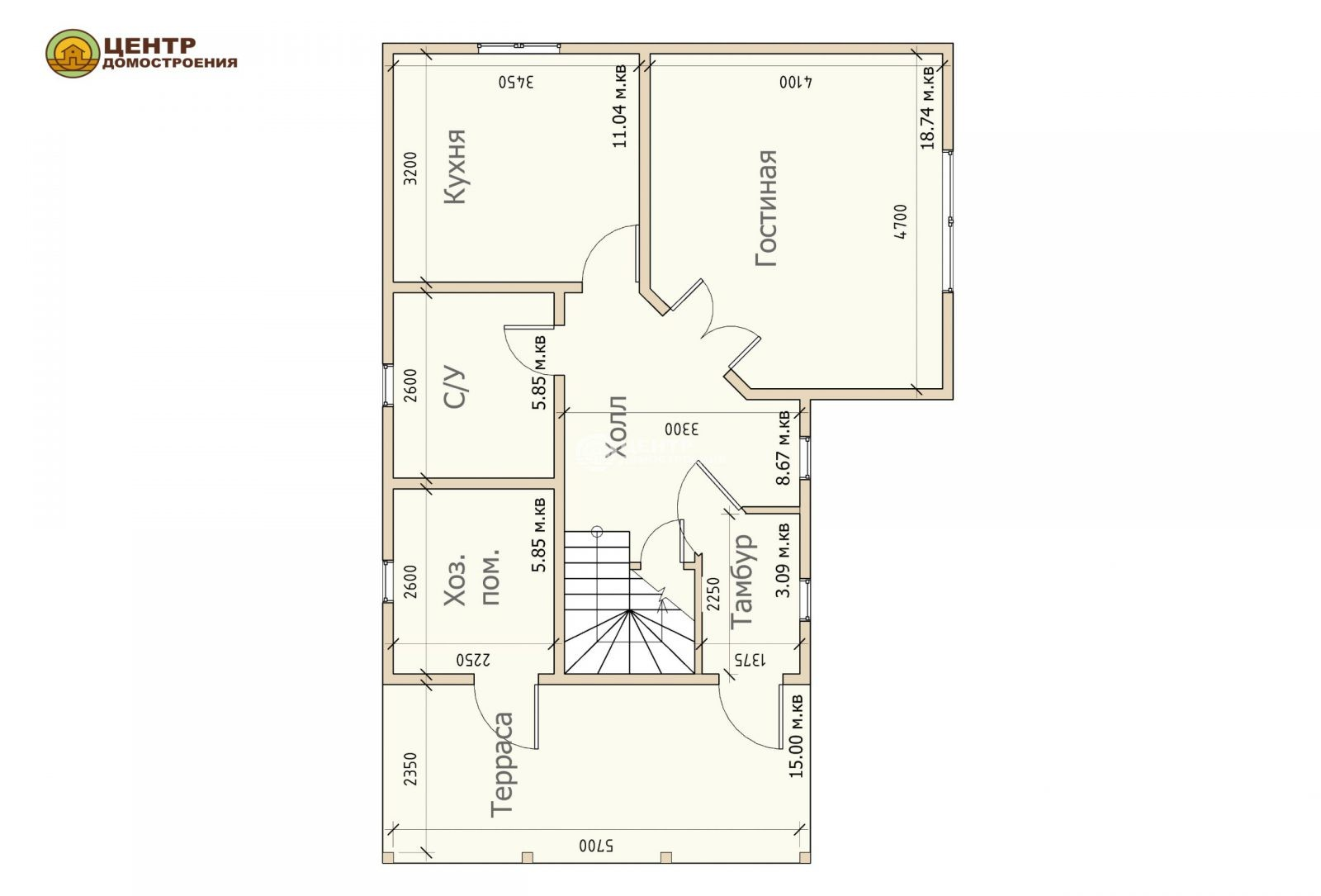 проект двухэтажного дома 8 на 11