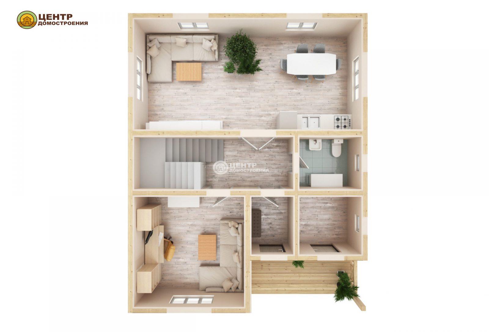 проект двухэтажного дома 10 на 8