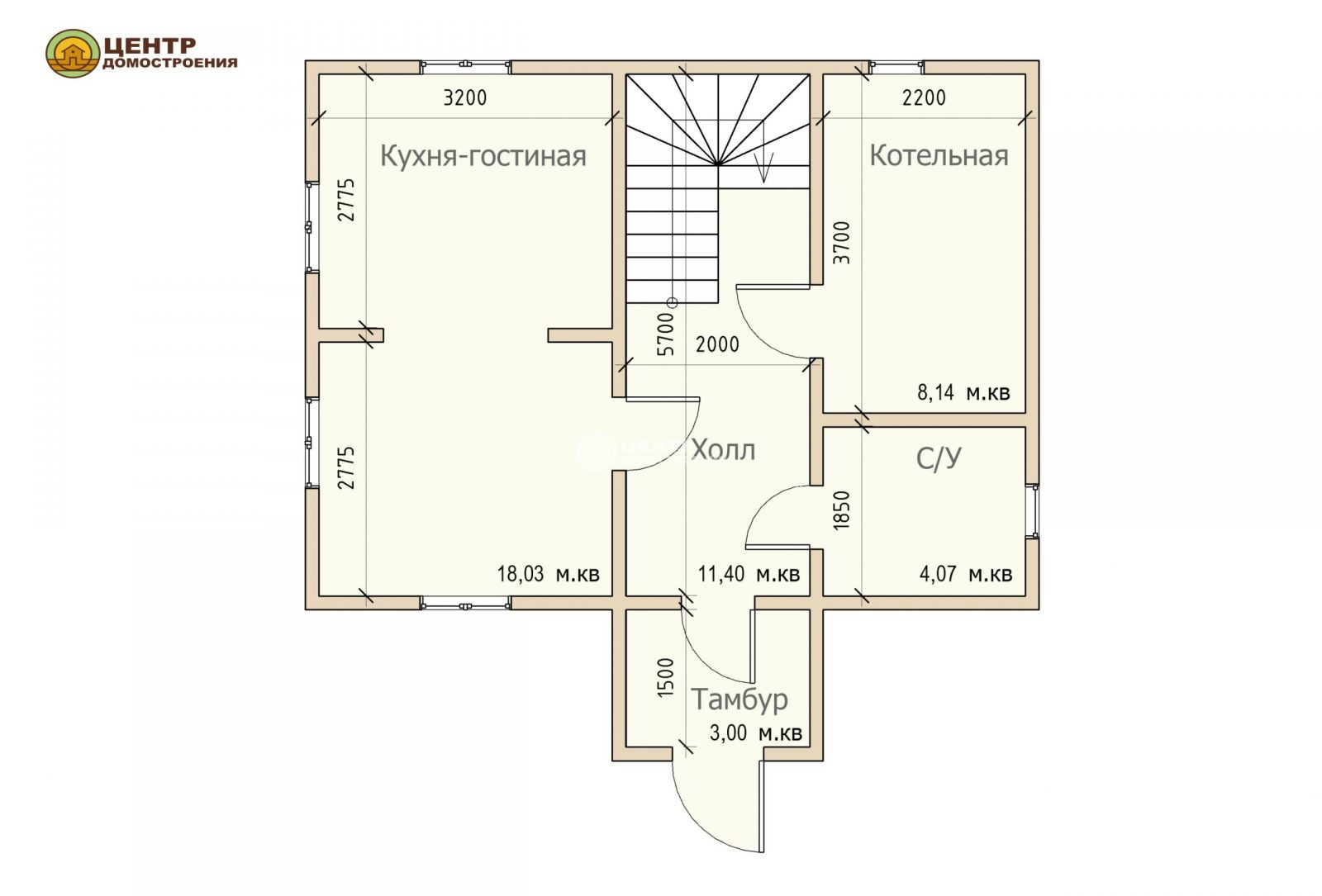 проект дома 4 на 6 с мансардой
